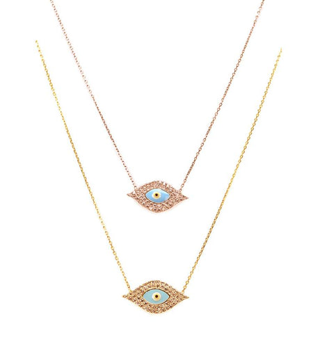 Iconic evil eye necklace