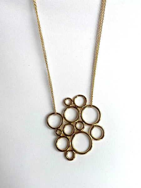 14 gold multi hoop necklace