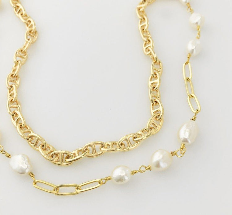 Mariner Pearl Chain Necklace