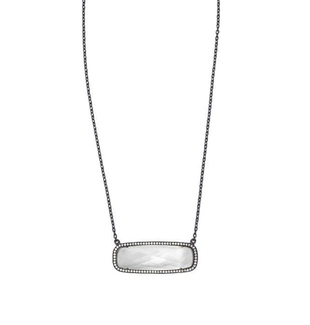 Clear Quartz Rectangle Necklace