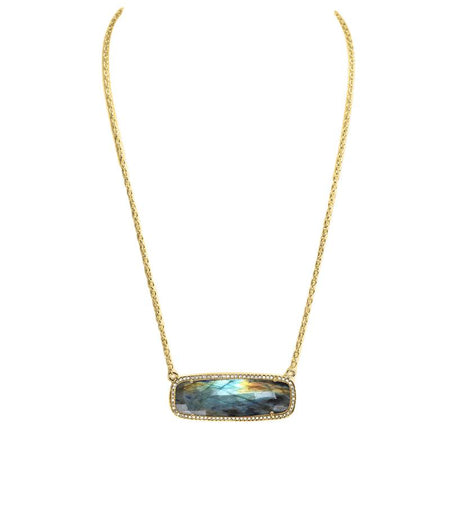 Labradorite Rectangle Necklace