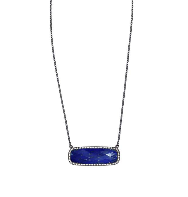 Lapis Lazuli Rectangle Necklace