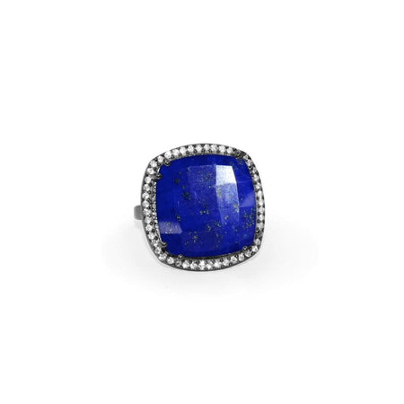 Lapis Square Ring