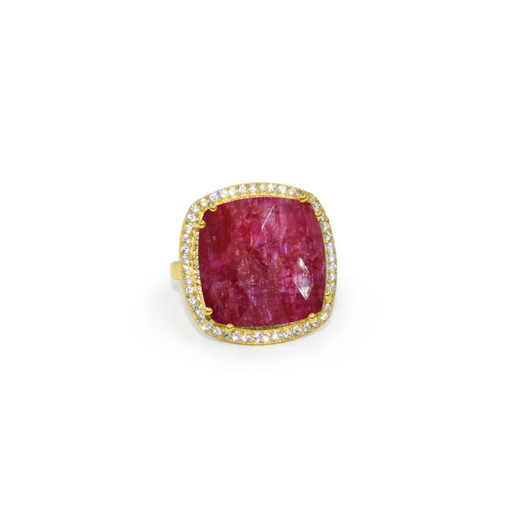 Ruby Jade Square Ring