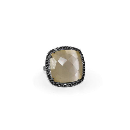 Smoky Quartz Square Ring