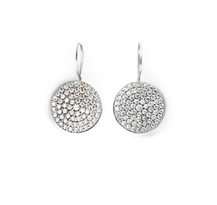 sparkling disk earrings