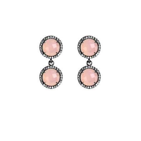 2-Stud Drop Earrings