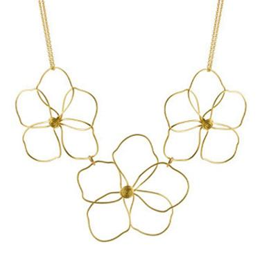 organic flowers necklace