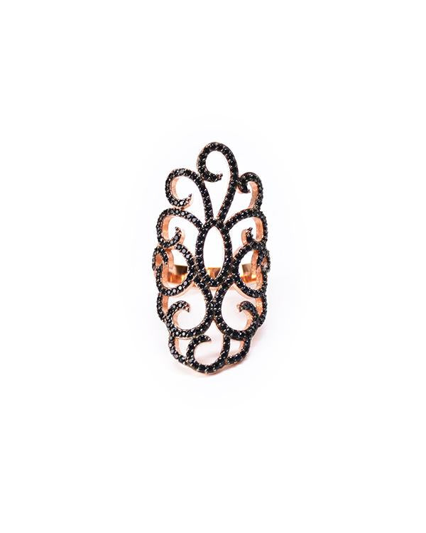 Curlique RoseGold Ring