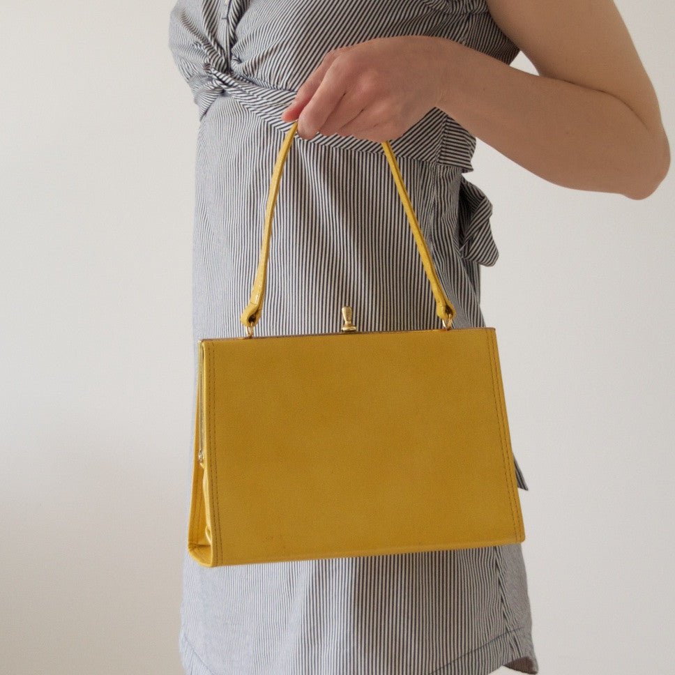 Vintage yellow handbag by Alligator