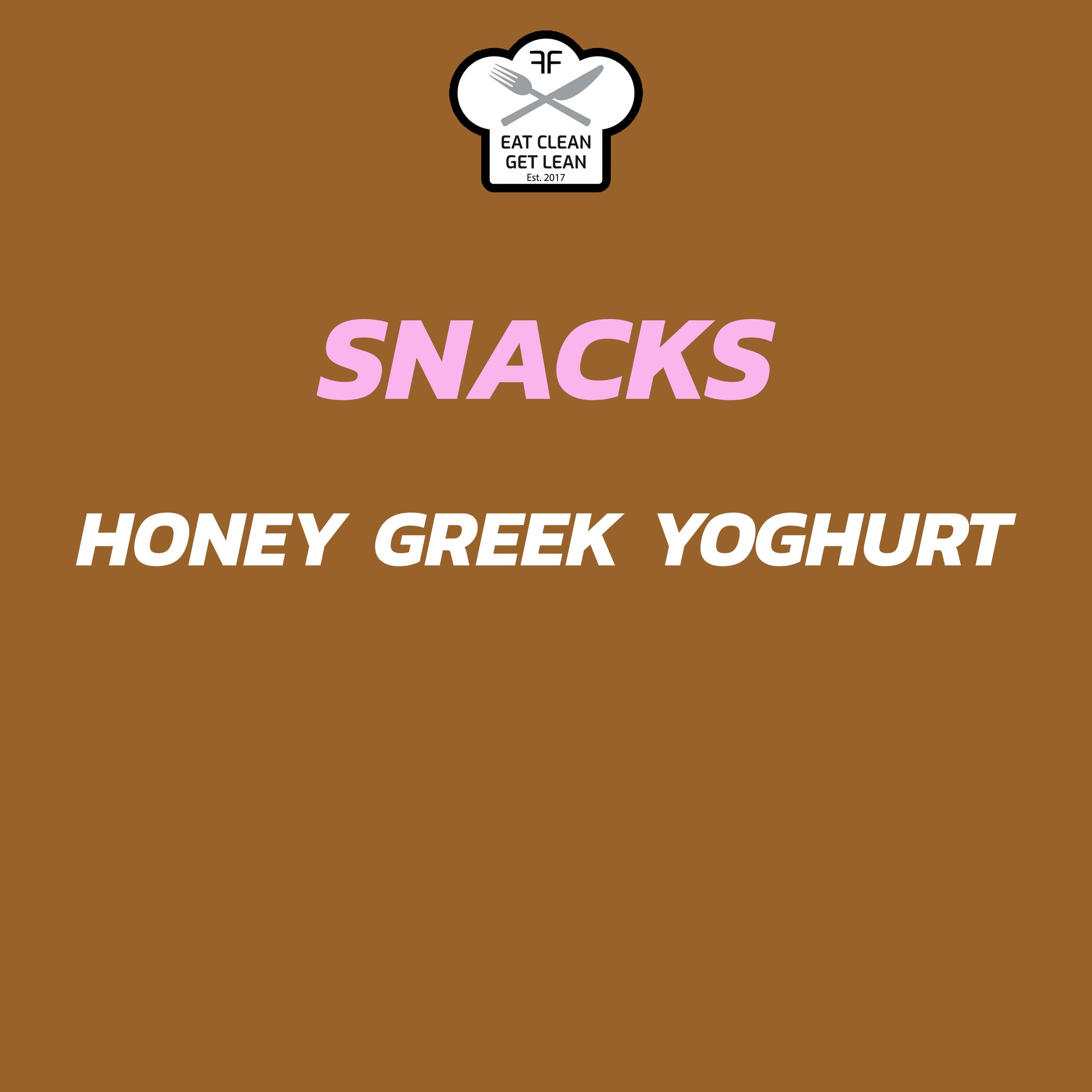 Snacks - Honey Greek Yoghurt