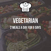 WEEKLY ORDER: 2 Vegetarian Meals a Day for 6 Days
