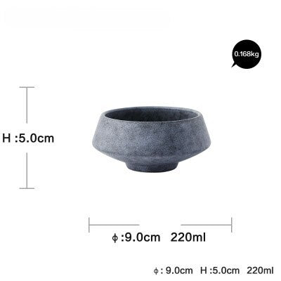 Solid Grey colored marble high quality designed ceramic bowl