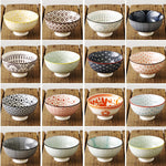 Japanese and Wind 4.5-inch Rice Bowl Ceramic Unglazed Anti-scalding Bowl European Simple Household Soup Bowl  High-legged