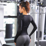 Long Sleeve Mesh Gym Top