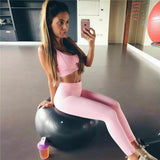 2Pcs Women's Sport Gym  Vest Bra Sports Legging Pants Ladies Outfit Wear Set