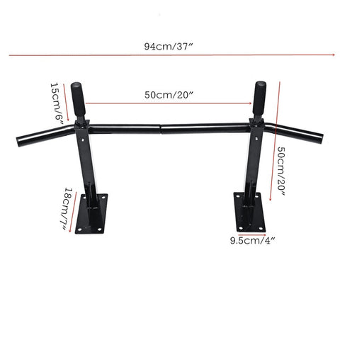 Black Heavy Duty Chin Wall Mounted pull up bar