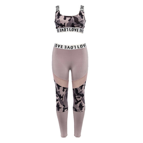 Printed Fitness top and leggings set