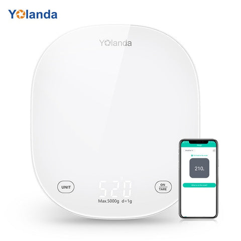 Yolanda 5kg Smart Bluetooth App Kitchen Scale for recording Calories