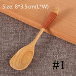 Natural Wooden Spoon & Fork Dinner Kit