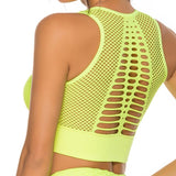 Women's sports tops elastic sports vest gym Hollow out vest Chest lift top Running Crop Tops Workout Padded Sport Bra Activewear