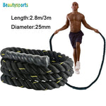 3m* 25mm Heavy Jump Rope Crossfit Weighted Battle Skipping Ropes