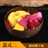 Natural Coconut Bowl Spoon set Creative Coconut Shell  Fruit Salad Noodle Rice Bowl Wooden bowl Tableware restaurant kitchen