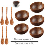 Natural Coconut Bowl Spoon set