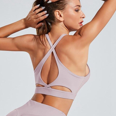 New Sports Bra shock-proof Gathering Yoga Fitness Back Yoga vest-style sports underwear women