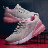 Lightweight Breathable Air Cushion Lace Up Trainers