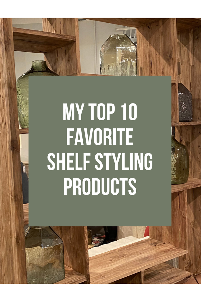 Shelf styling is simple if you have the right products.