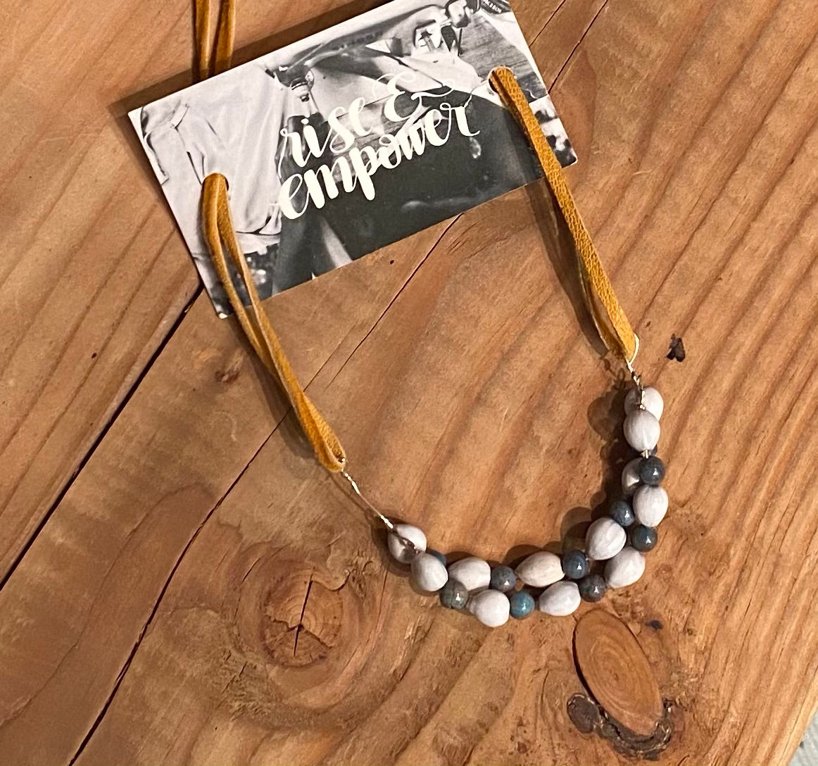 JH Gray Beaded Necklace