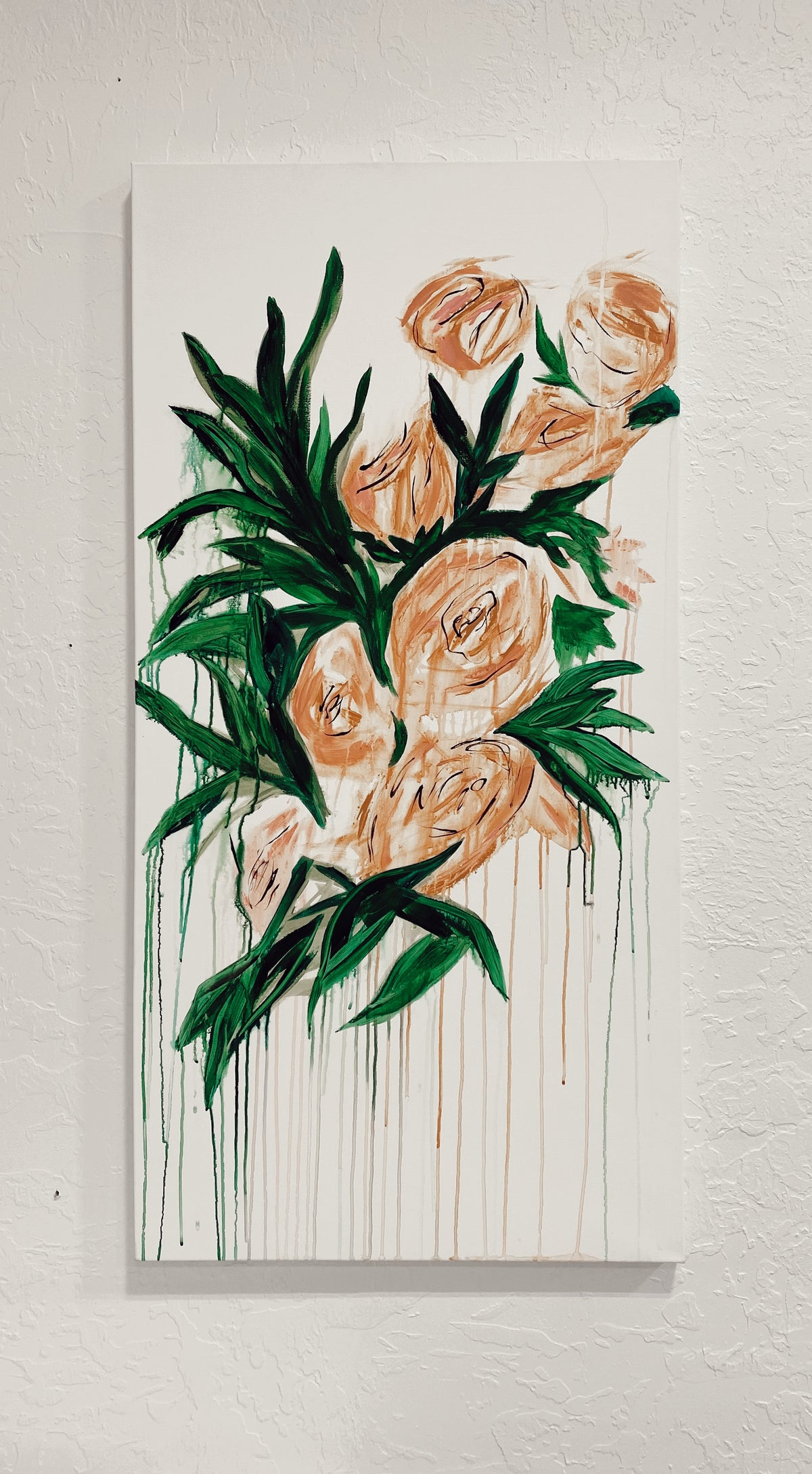 RW Hand Painted Canvas Peachy Keen