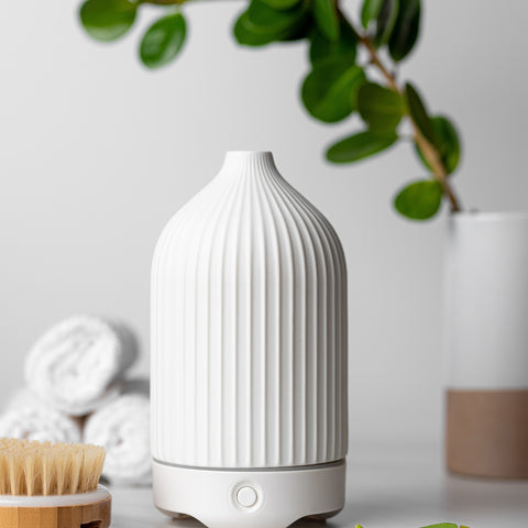 Textured White Ceramic Glass Diffuser