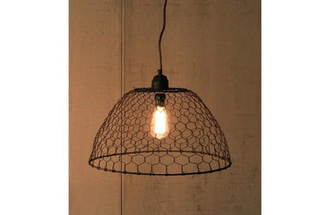 Chicken Wire Pendant