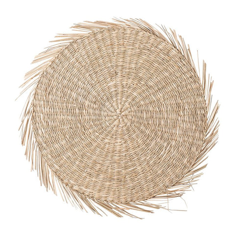 Round Hand-Woven Natural Seagrass Placemat