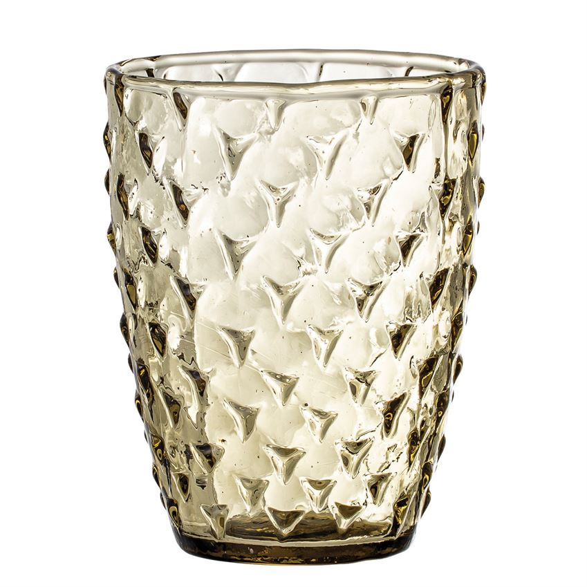 Olive Embossed Recycled Drinking Glass