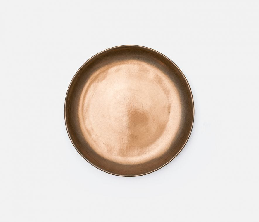 Antiqued Gold Dinner Plate