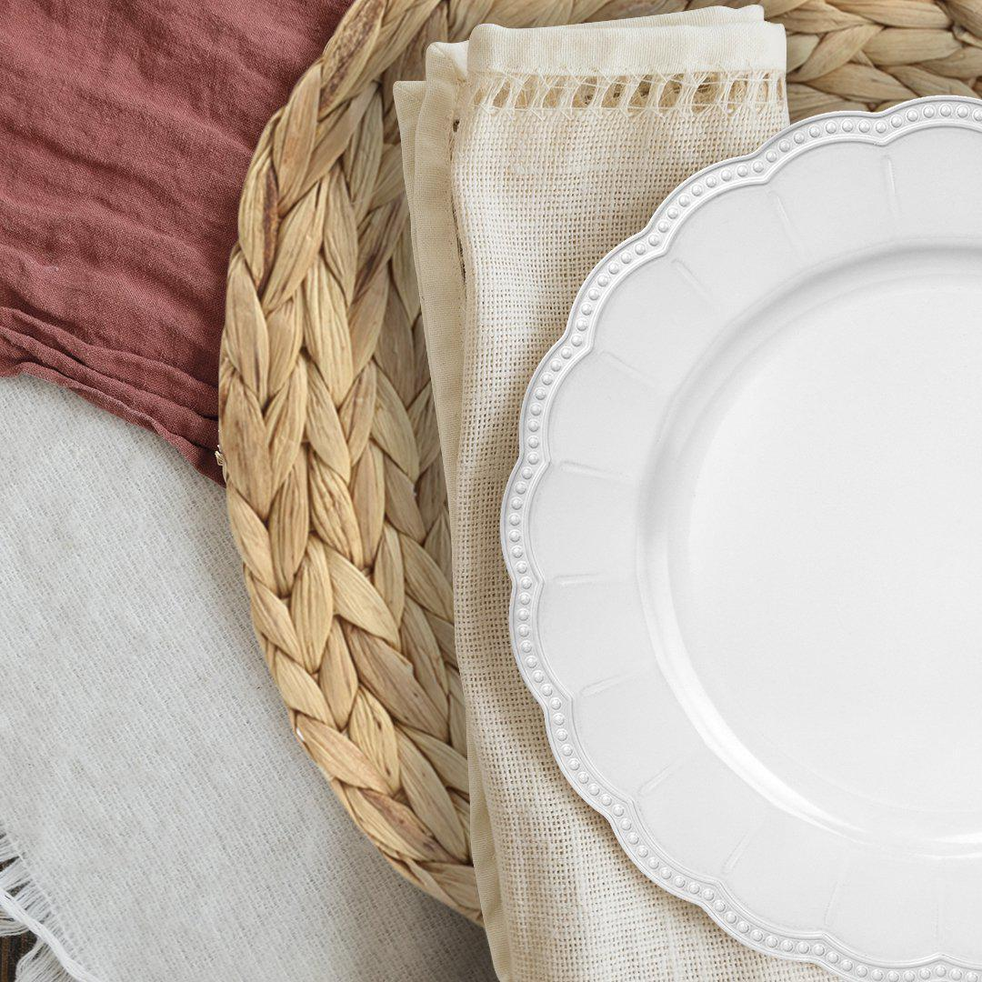 Round Water Hyacinth Woven Placemat