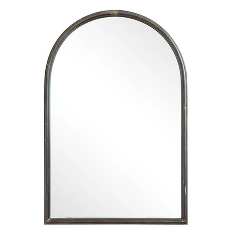Mirror with Metal Trim