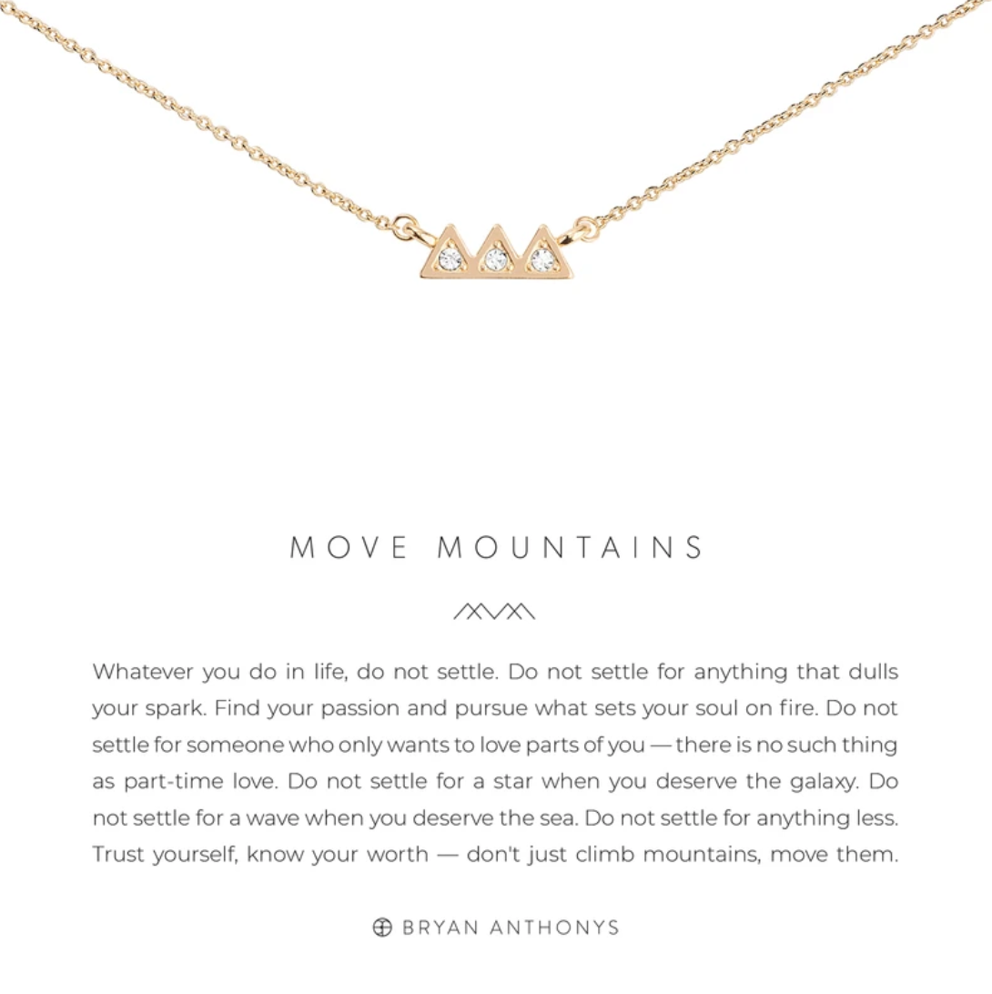 Move Mountains Necklace 14K Gold