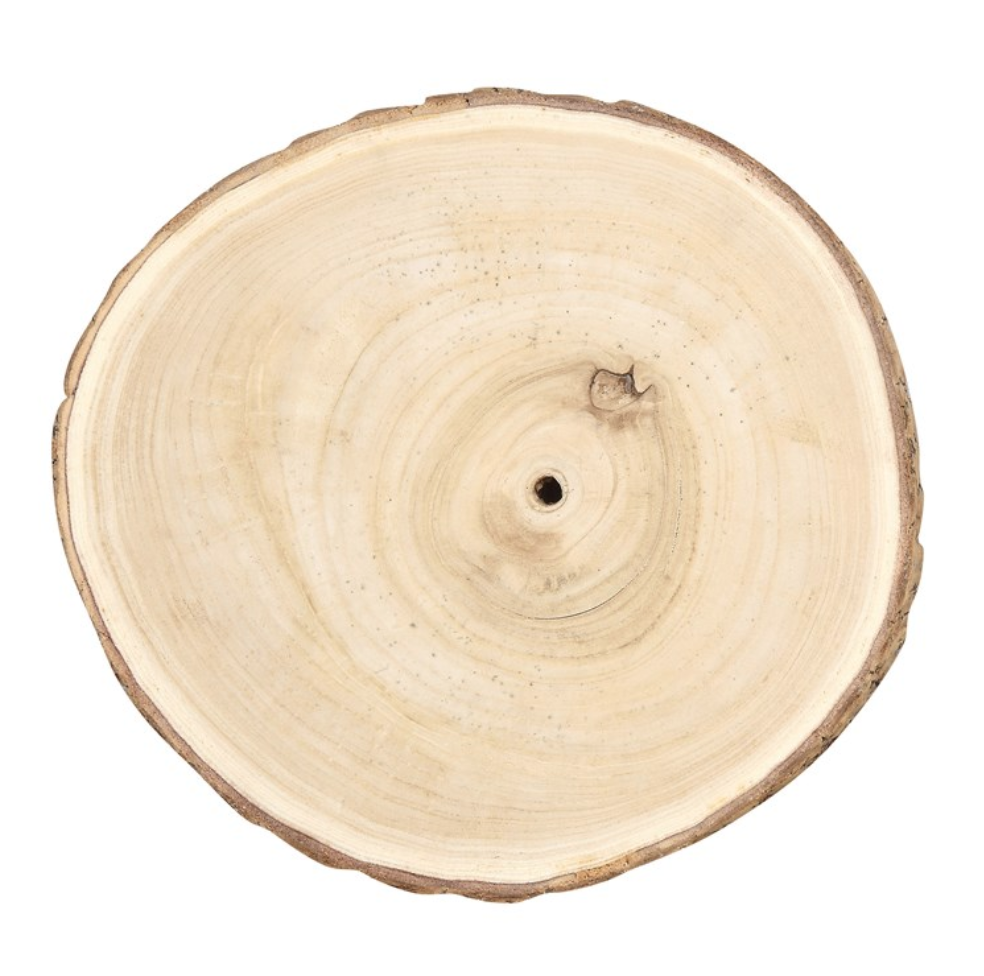 Round Paulowina Wood Slice