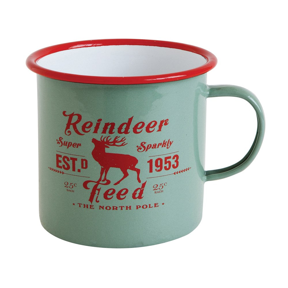 Reindeer Feed Enameled Mug