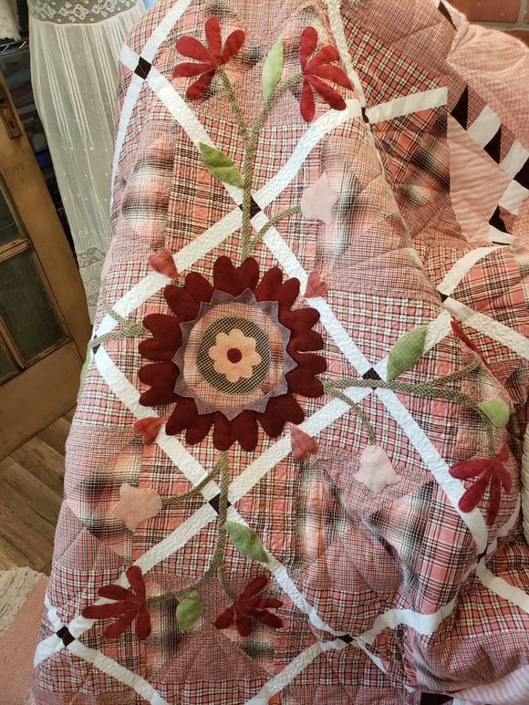 Homespun Sugar quilt kit - homespuns & solids for quilt top - wool sold separately