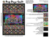 Sykel Dog Days fabric quilt - FREE project sheet