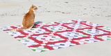 Red Dot Sashing for Happy Scrappy Quilt Pattern