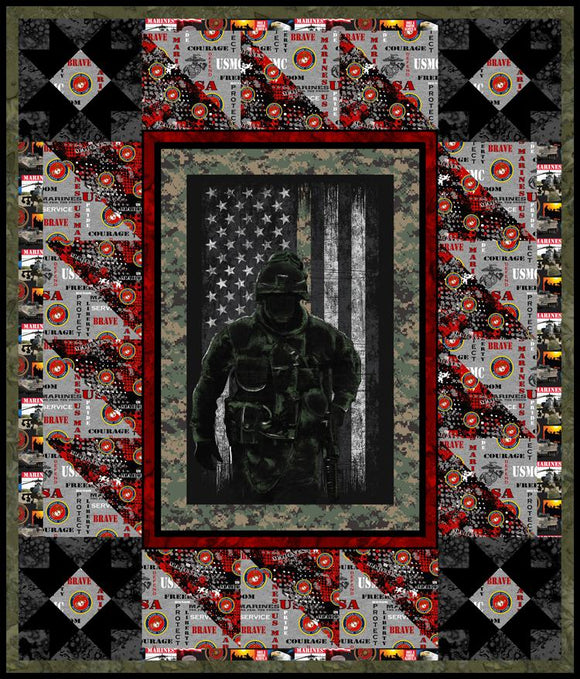 Sykel Marines fabric quilt - FREE project sheet