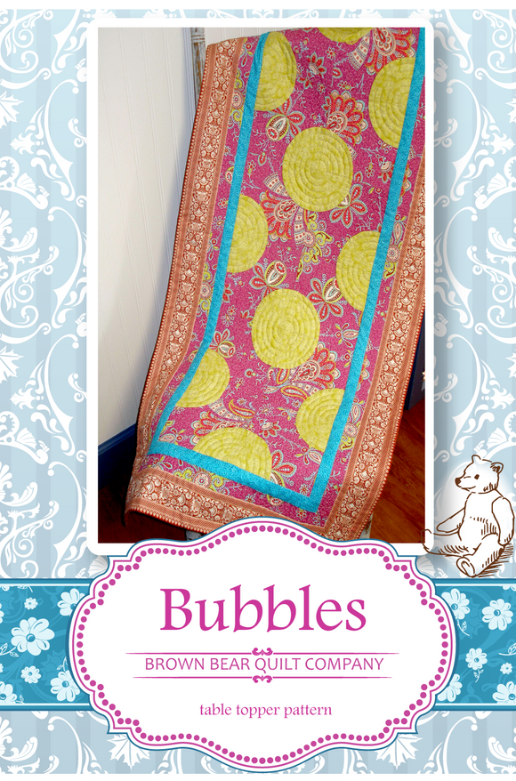 Bubbles Quilt Pattern - includes table runner and additional sizes