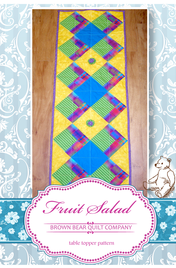 Fruit Salad Quilt Pattern - includes table runner and additional sizes