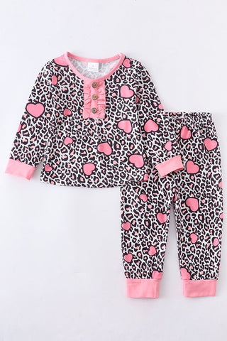 Heart Leopard Lounge Set